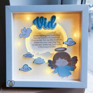 personalizirani okvir za krstenje