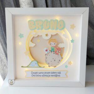 noćno svjetlo personalizirani okvir mali princ