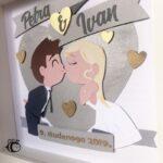personalizirani okvir za vjencanje